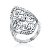 Valentine's Day ***BRAND NEW***Elegant Silver Cz Filigree Hearts Stainless Steel Ring***SZ 7 in The Woodlands, Texas