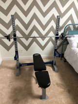 weight bench and weight set in Warner Robins, Georgia