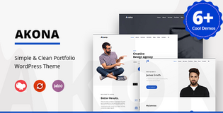 Akona – Simple & Clean Portfolio WordPress Theme by zozothemes in Chicago, Illinois