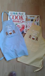 Kids cook books and aprons in Lakenheath, UK
