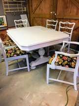 Signed antique dining table/ 6 chairs in Camp Lejeune, North Carolina