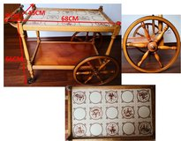 antique German rolling table for sale in Stuttgart, GE