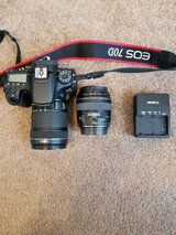 Canon EOS 70D DSLR Camera with EF-S 18-135mm f/3.5-5.6 IS and EF 85mm f/1.8 USM Lenses Kit in Camp Lejeune, North Carolina