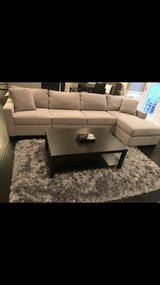 Gray cloth couch, excellent condition in Naperville, Illinois