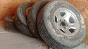 Set of rims and tires in Fort Leonard Wood, Missouri