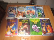 Lot of 8 Disney kids VCR Tapes Used in 29 Palms, California