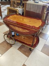 Italian Inlayed Bar/Tea Cart Marquetry Mid Century in Fort Leonard Wood, Missouri