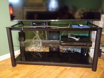 Glass tv stand black color in Fort Bragg, North Carolina