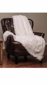 """Brand New!"" Ivory Sherpa Long Fur Throw in Morris, Illinois"