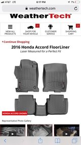 2016 Honda Accord weather tech mats front and back in Chicago, Illinois