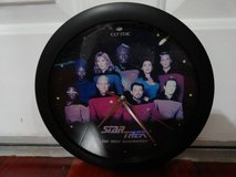 STAR TREK THE NEXT GENERATION ORIGINAL CAST & CREW PHOTO WALL CLOCK in Fairfield, California
