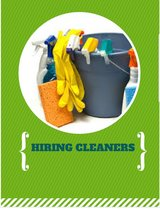 HIRING! Part Time Cleaners in Camp Lejeune, North Carolina