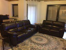 Leather Couch and Love Seat in Ramstein, Germany