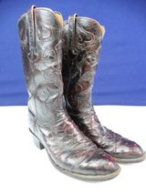 Lucchese Men's Ostrich Leather Cowboy Boots Size 9 in Pearland, Texas