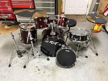 Drum set with extras included. in Byron, Georgia