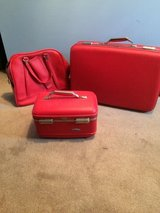 Vintage Red American Tourister Luggage in Naperville, Illinois