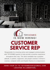 TDYHOMES is hiring Customer Service Representatives in Ramstein, Germany