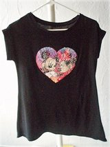 Reversible Sequin Mickey & Minnie Mouse shirt size XL (14-16) in Stuttgart, GE