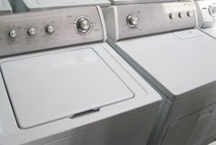 Washer Dryer Set-By Silver face set by Whirlpool in Warner Robins, Georgia