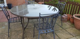 Glass Table And 4 Chairs in Lakenheath, UK