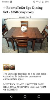 RoomsToGo 5Pc Dining Table in Spring, Texas