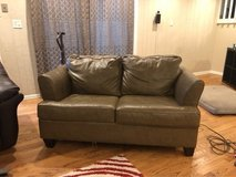 leather couch with twin sleeper in Naperville, Illinois