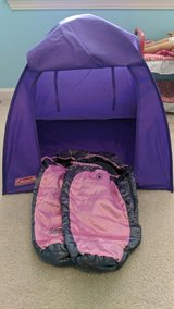 Doll tent with 2 sleeping bags in Oswego, Illinois