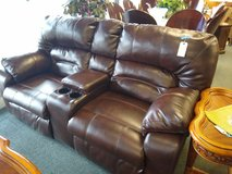Double Power Recliner Brown Leather in Chicago, Illinois