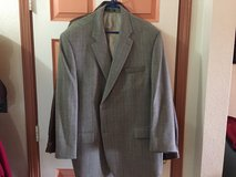 Men's Gray Tweed Suit Jacket, size 48, Worn Once in Alamogordo, New Mexico
