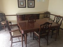 Bernhardt Dining Room Table, 6 chairs and Sideboard/Buffet in Chicago, Illinois