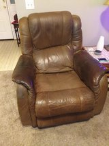 recliner, brown leather in Beaufort, South Carolina