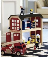 Land of Nod Wooden Firehouse Set in The Woodlands, Texas