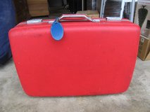 Vintage Red American Tourister Hard-shell Suitcase in Yorkville, Illinois