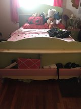 kids twin size bedroom set with mattress/box spring, dresser, chest, study seat with rolling sto... in Okinawa, Japan