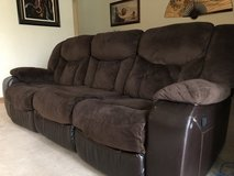 **REDUCED**Reclining 3 seat couch & reclining single seat couch in Okinawa, Japan