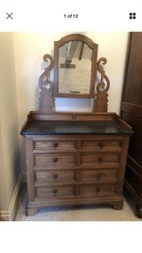 Antique Dresser With Mirror and Detachable Marble Top in Lakenheath, UK