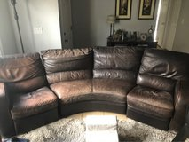 free leather couch and ottoman in Camp Pendleton, California