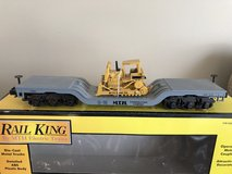 MTH Electric Trains Depressed Flat Car w/ ERTL Bull Dozer 30-7618 in Joliet, Illinois