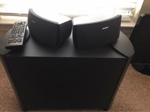 Bose sound system with two speakers in Quantico, Virginia