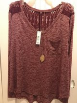 Juniors Long Sleeve Sweater with necklace in Quantico, Virginia