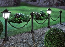 Garden Decor Solar Lights Lamp Post Outdoor Chain Fence Poles Patio LED Lighting in Ramstein, Germany