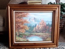 Gorgeous Vintage Art - Brownish/Goldish Wooden Framed Oil On Canvas in Bolingbrook, Illinois