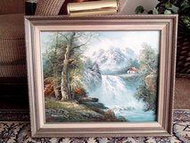 Gorgeous Vintage Natural Beauty Art - Gray Wooden Framed Oil On Canvas in Bolingbrook, Illinois