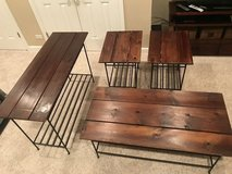 Pottery table set- living/family room in Oswego, Illinois