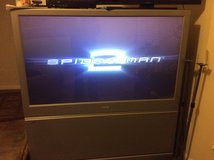 Phillips Big Screen 55 inch 55 high 50 wide 28 deep. Works good in Houston, Texas