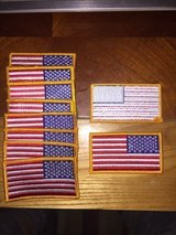 Flag sew on patches in Nellis AFB, Nevada