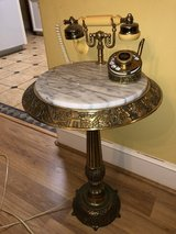 Brass and Marble Phone Table in The Woodlands, Texas