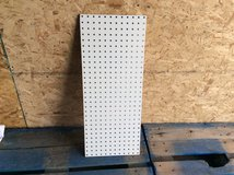 28 3/4IN x 12IN x 1/4IN THICK DOUBLE SIDED WHITE PEGBOARD/ DISPLAY MATERIAL in Alamogordo, New Mexico