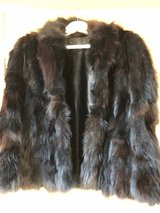 Fur black Fox coat, size large made in Norway in Spangdahlem, Germany