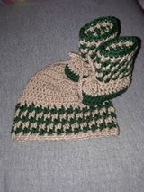 New ... crochet 0/3 months hat & booties in Fort Hood, Texas